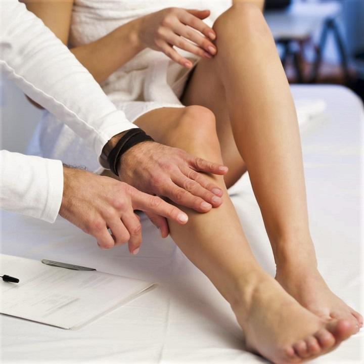 a lábak visszértágulatának vizsgálata